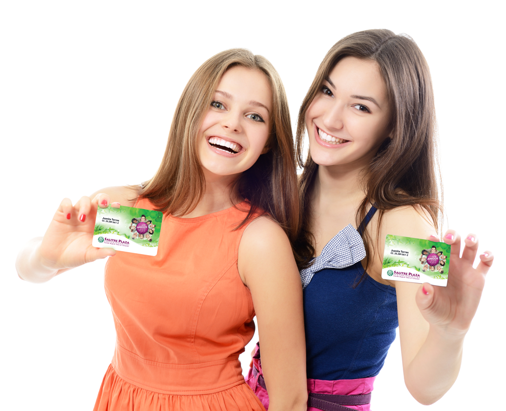 stock-photo-beautiful-friendly-smiling-confident-young-women-showing-club-cards-in-hands-over-white-background-131550209